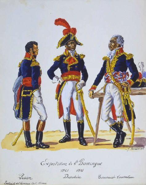 Petion, Dessaline, Toussaint Louverture 1801-1803 ...