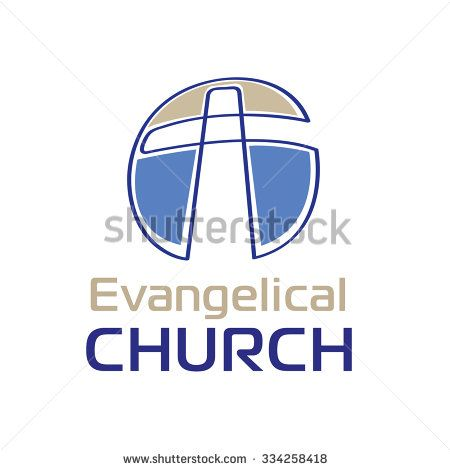 Vector Logo Christian Symbol Of The Cross And The Bible For Church