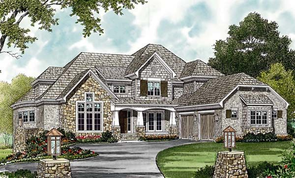 House Plan 85617 | Cottage Craftsman Plan with 7502 Sq. Ft., 6 ...