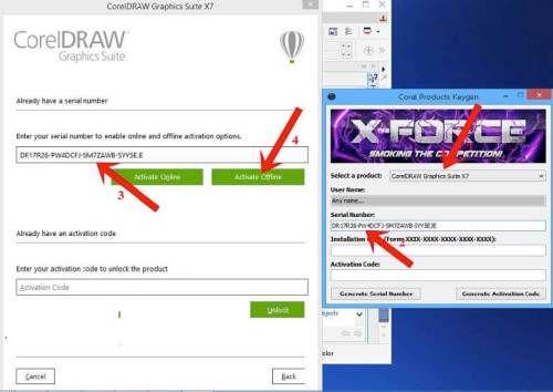 corel draw x7 keygen plus serial number free download