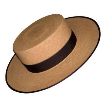 Sombrero cordobés en paja de arroz. Gala equitación  c73bee6fb92