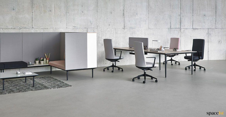 Longi Black Desk Oak Top Oak Desk Black Desk Furniture
