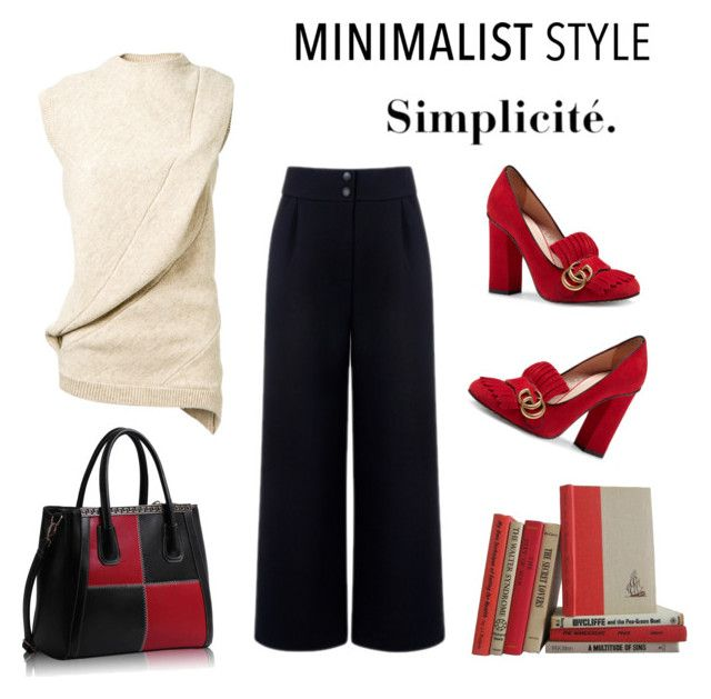 """""""Simple/Minimalist"""" by hellodollface ❤ liked on Polyvore featuring Victoria Beckham, Être Cécile, Gucci and Minimaliststyle"""