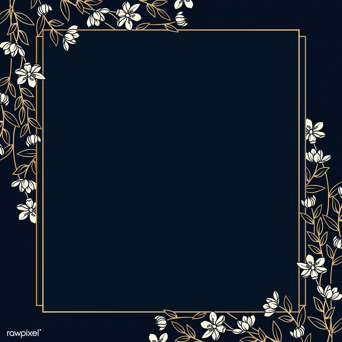Download free vector of Empty floral frame design vector