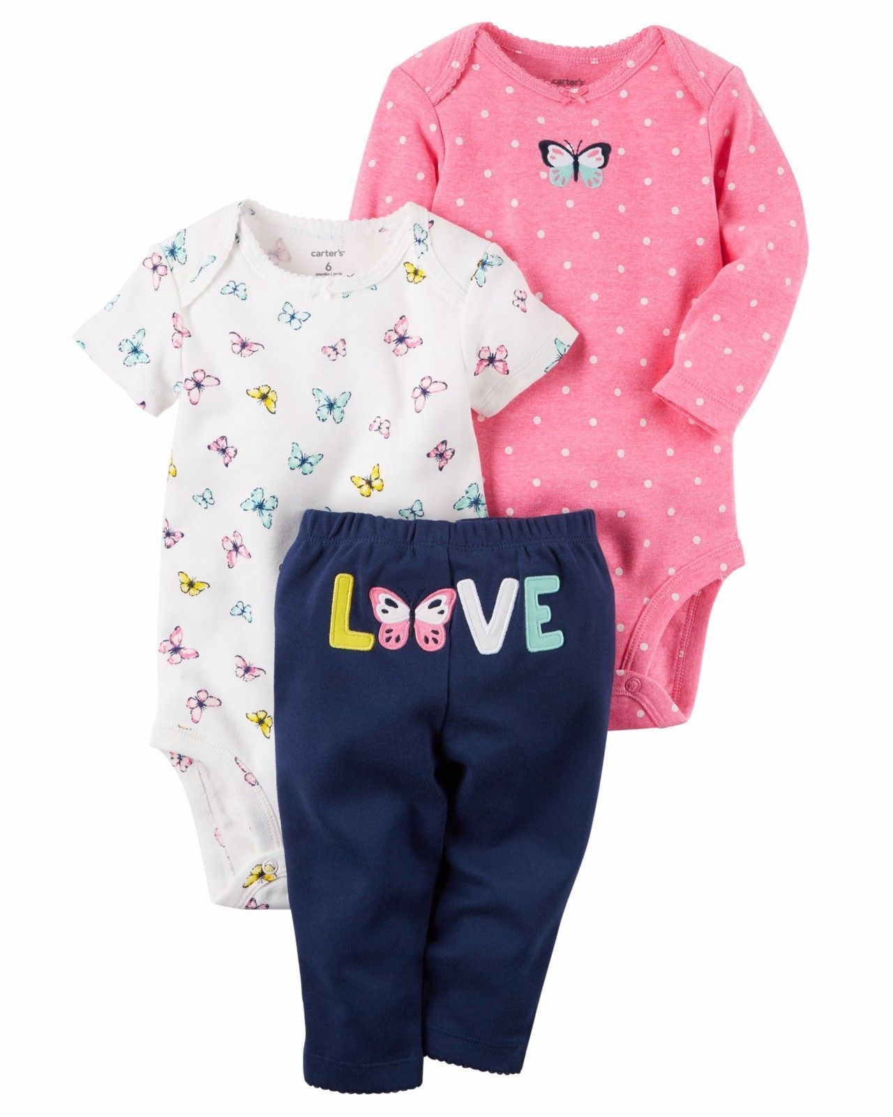 a9a7e0b47 Other Baby and Toddler Clothing 1070: New Nwt Girls Carter S Preemie  Premature 3 Piece Butterfly Love Set -> BUY IT NOW ONLY: $14.99 on #eBay # other ...
