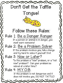 A Bad Case of Tattle Tongue Activities | Activities, Students and ...