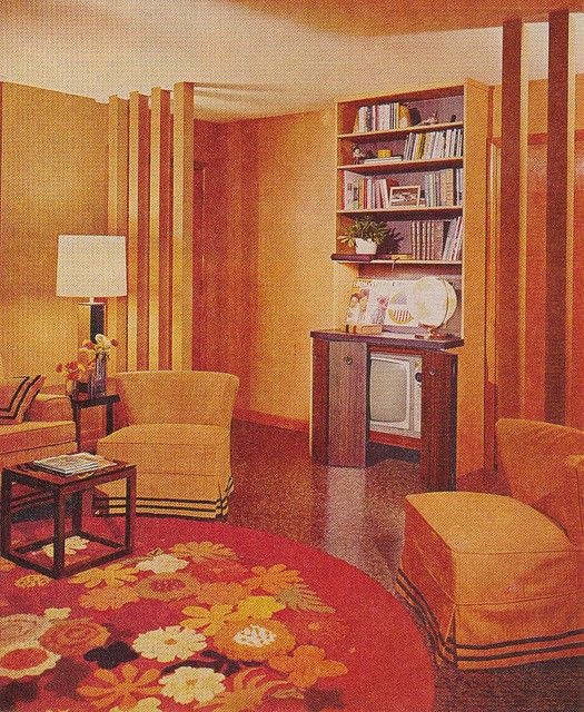 Orange Living Room by saltycotton, via Flickr
