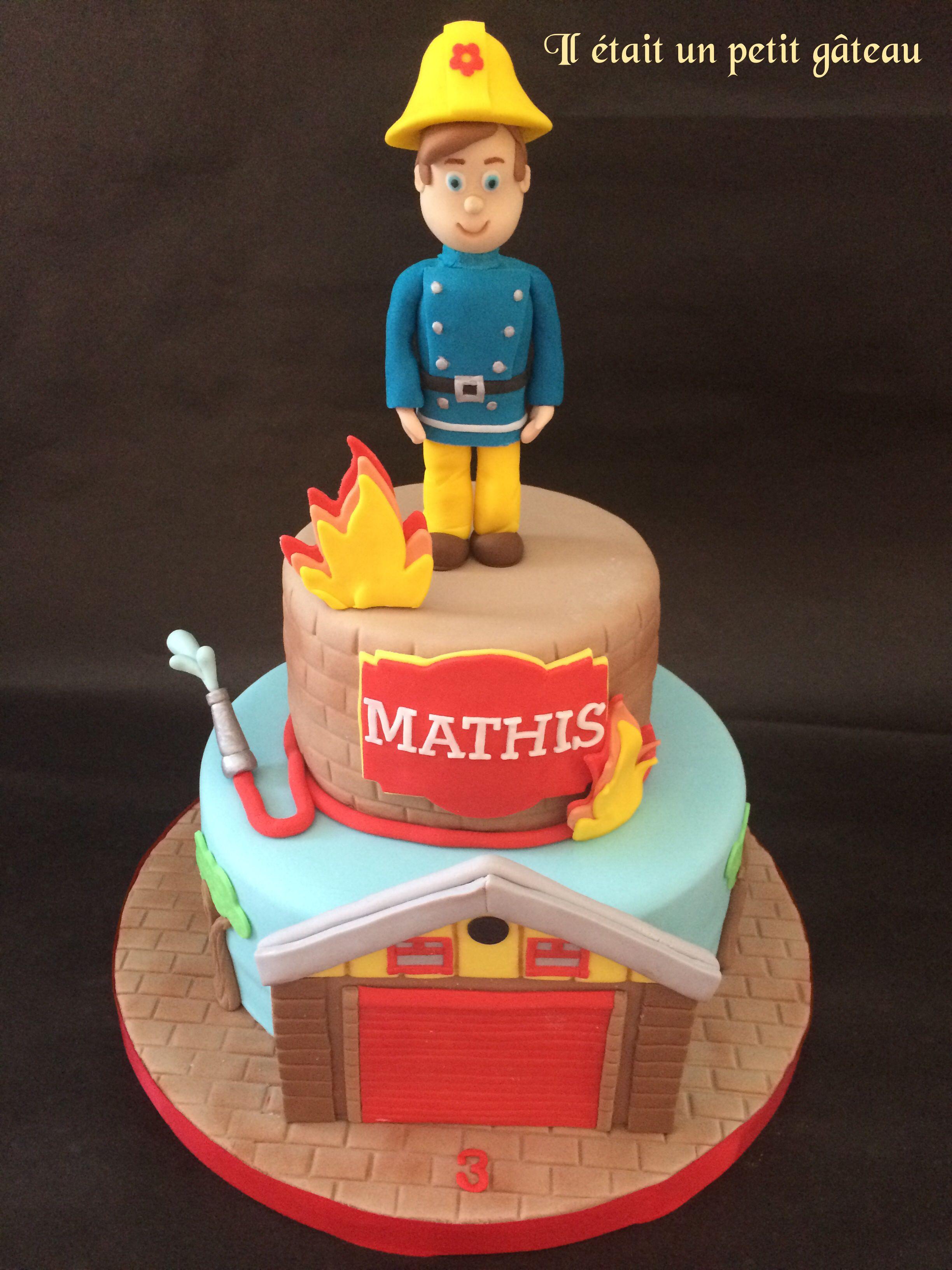 Sam Fireman Cake Gateau Sam Le Pompier Verjaardag Taarten Traktaties Taart