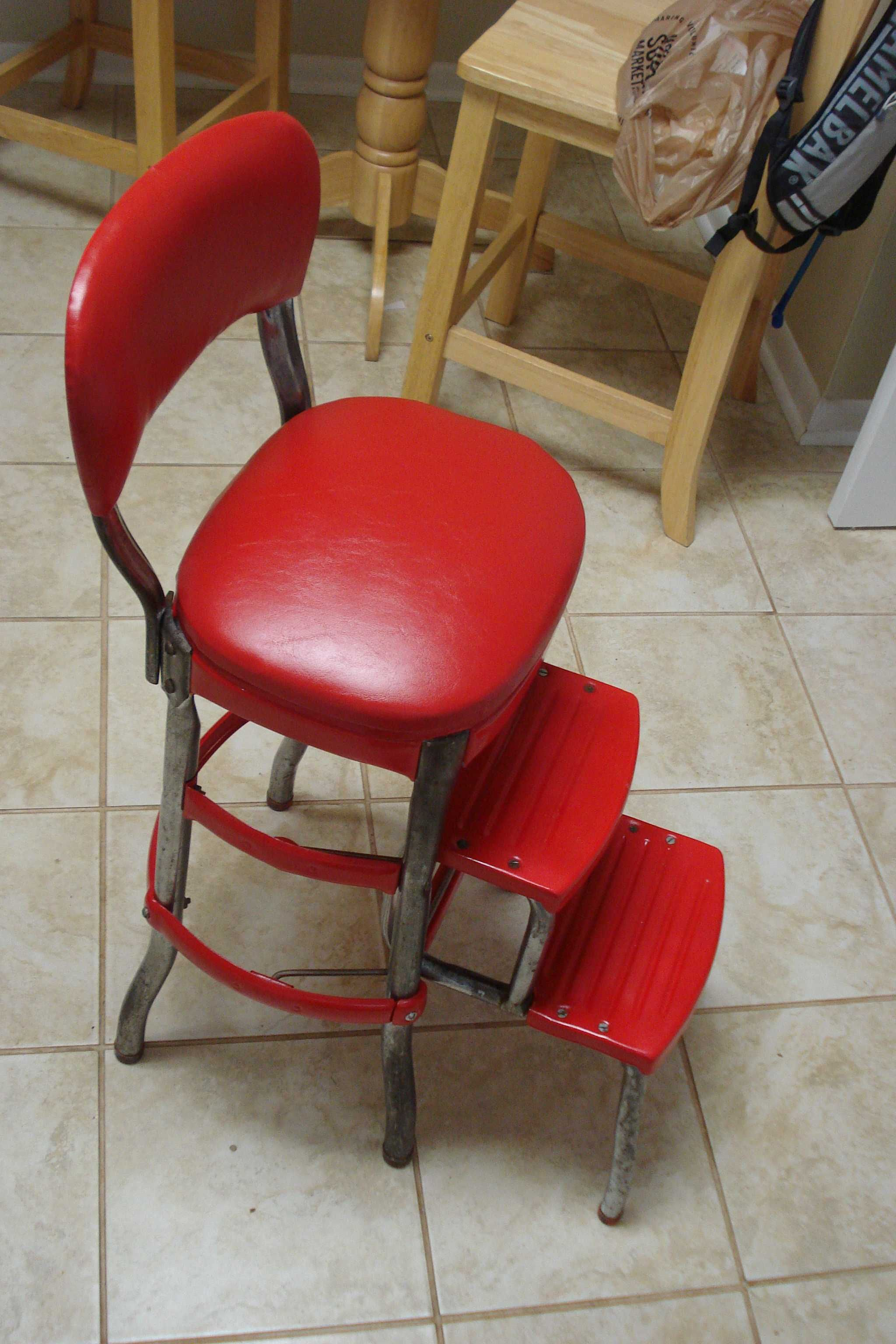 Starting Around The Columbus, Indiana Based Columbus Supply Company (COSCO)  Started Manufacturing A Combination Chair/step Ladder.
