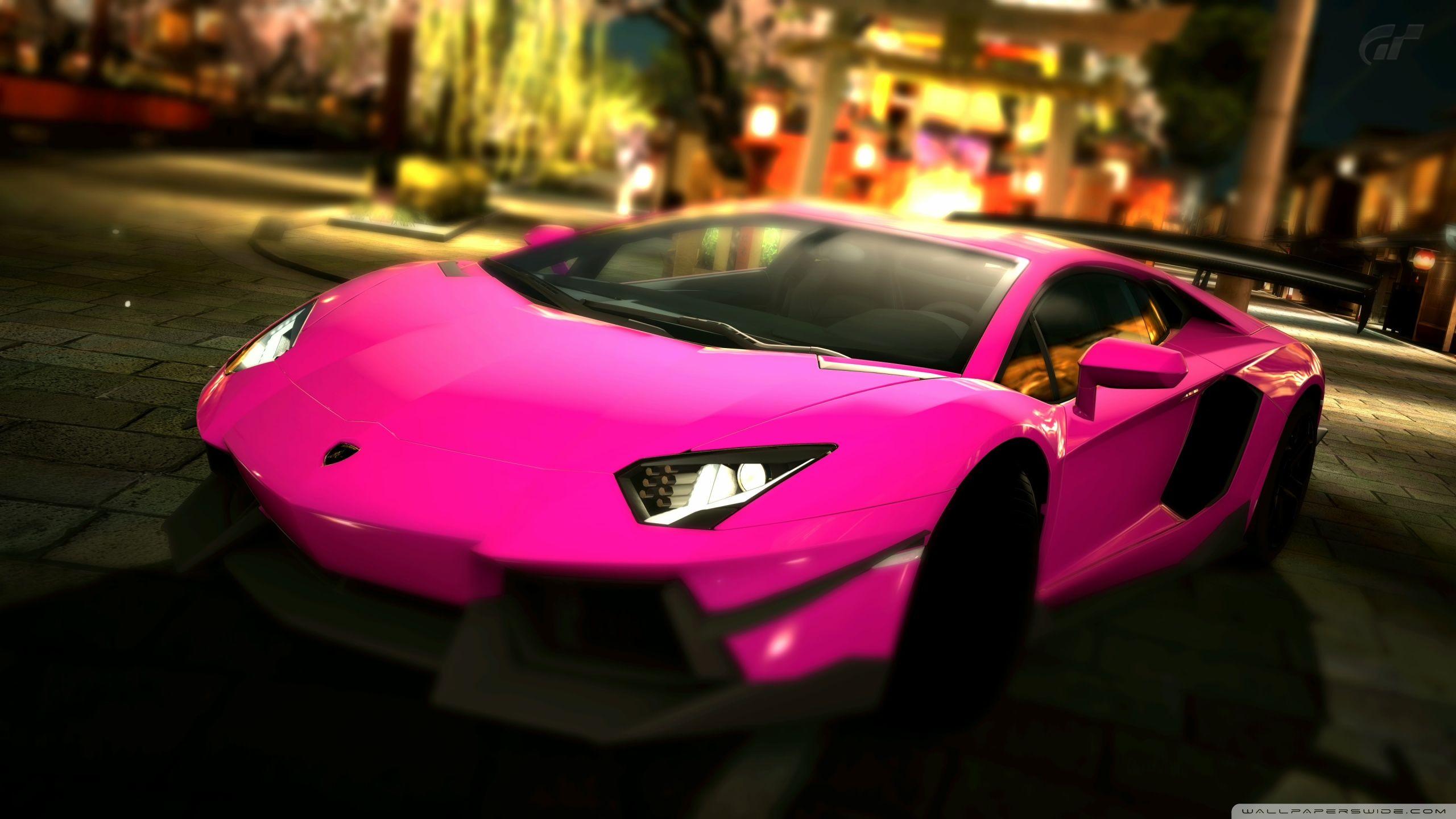Lamborghini Aventador Pink Color
