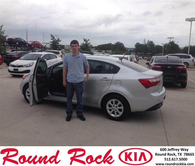 Congratulations to Jeffrey Reitzel on your #Kia #Rio purchase from Jorge Benavides at Round Rock Kia! #NewCarSmall