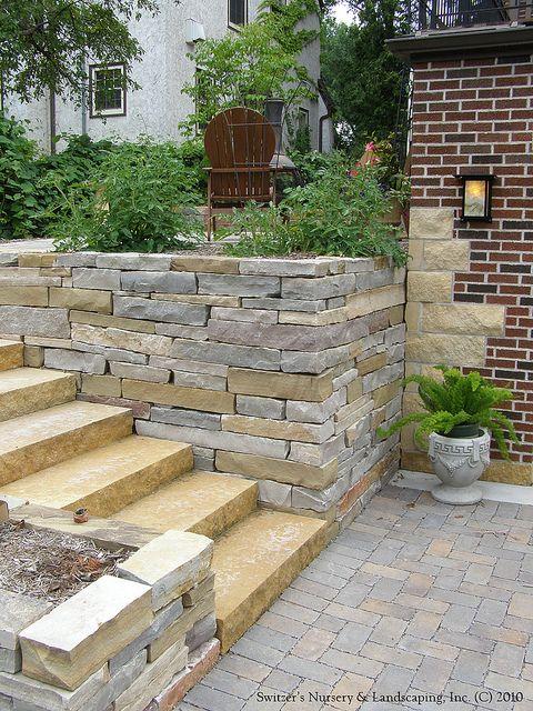 Natural Stone Steps Stone Landscaping Hardscape Landscape Design