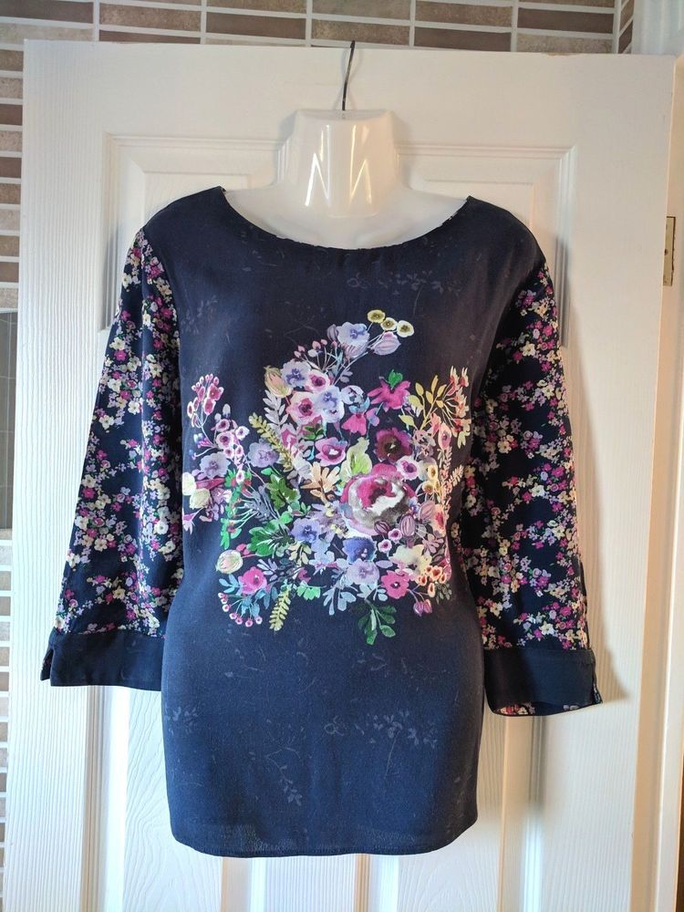 fd1a371c0be74 Gorgeous Laura Ashley Floral Top Size 14  fashion  clothing  shoes   accessories