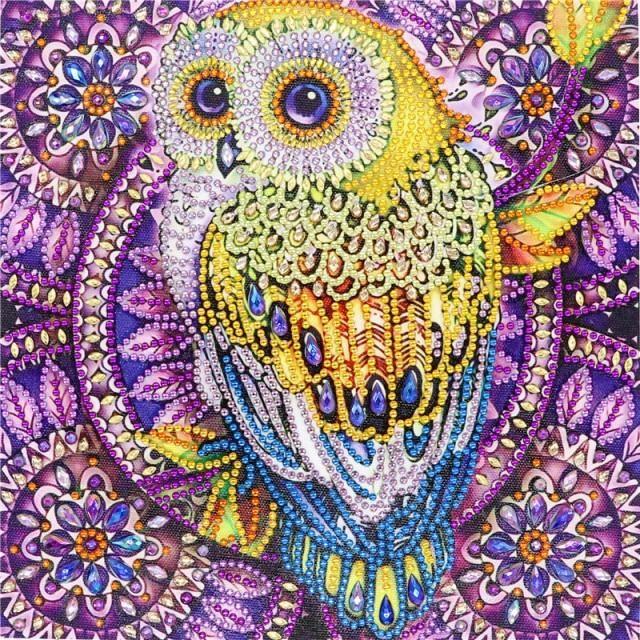Photo of 5D DIY Diamond Painting Special Diamond Embroidery Flower Tree Owl Diamond Painting Rhinestone Crystal Home Decoration Diamond Painting Cross Stitch  – 4 / 30*30cm