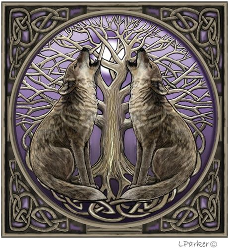 Celtic Wolf Wolf Artwork Wolf Howling Wolf