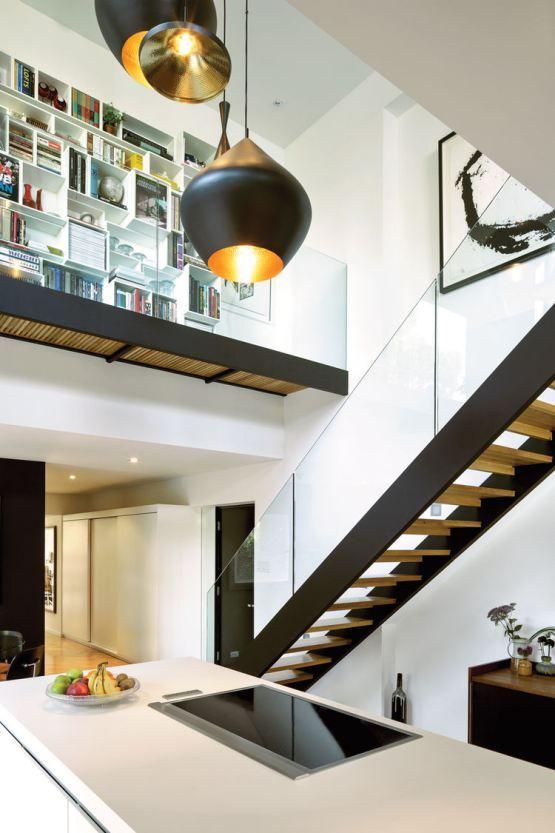 Post 19 escaleras en pisos n rdicos cocinas modernas - Escaleras modernas interiores ...
