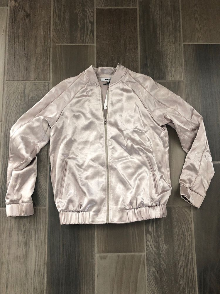 56a411239f0 Ro   De NEW Womens Size Small S Champagne Bomber Jacket  50  fashion   clothing  shoes  accessories  womensclothing  coatsjacketsvests (ebay link)