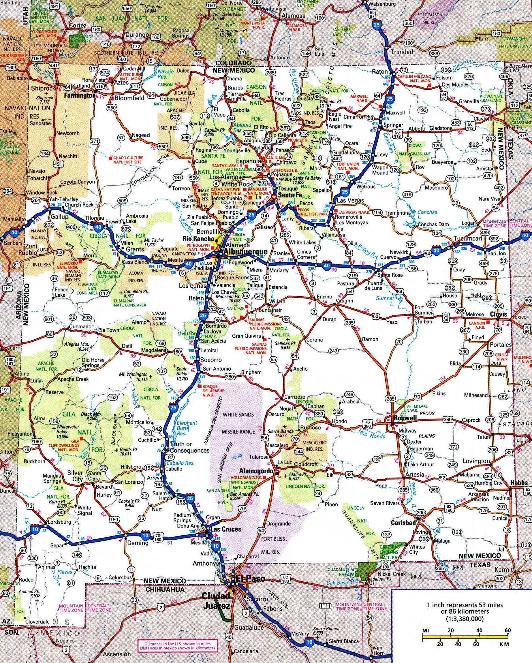 New Mexico Map Google Search TravelUS5 Colo NMexico