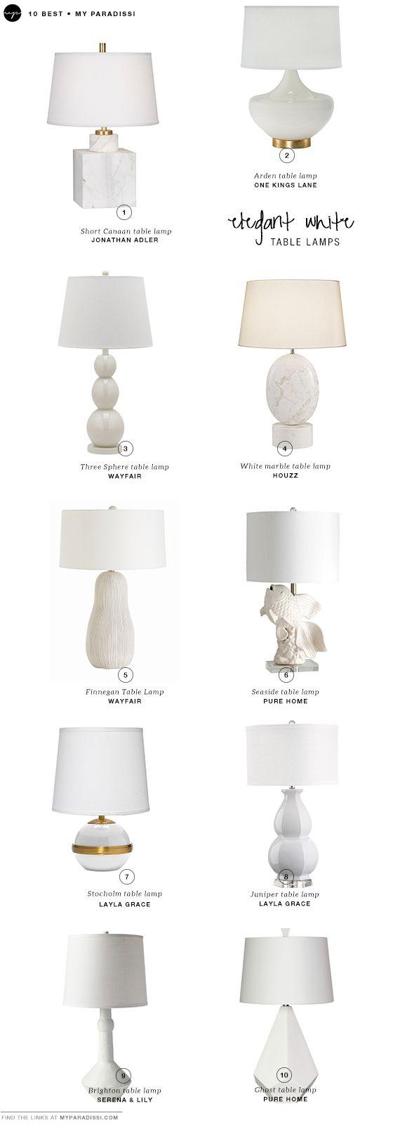 10 Best Elegant White Table Lamps White Table Lamp White Table Lamps Bedroom White Lamp