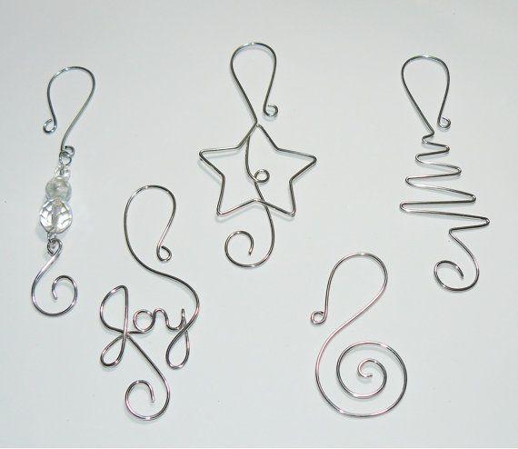Christmas Tree Ornament Hangers Wire Christmas Ornament Hooks Handmade Christmas Decoration Hanger Christmas Tree Ornament Hooks Wire Ornaments Holiday Decor Christmas