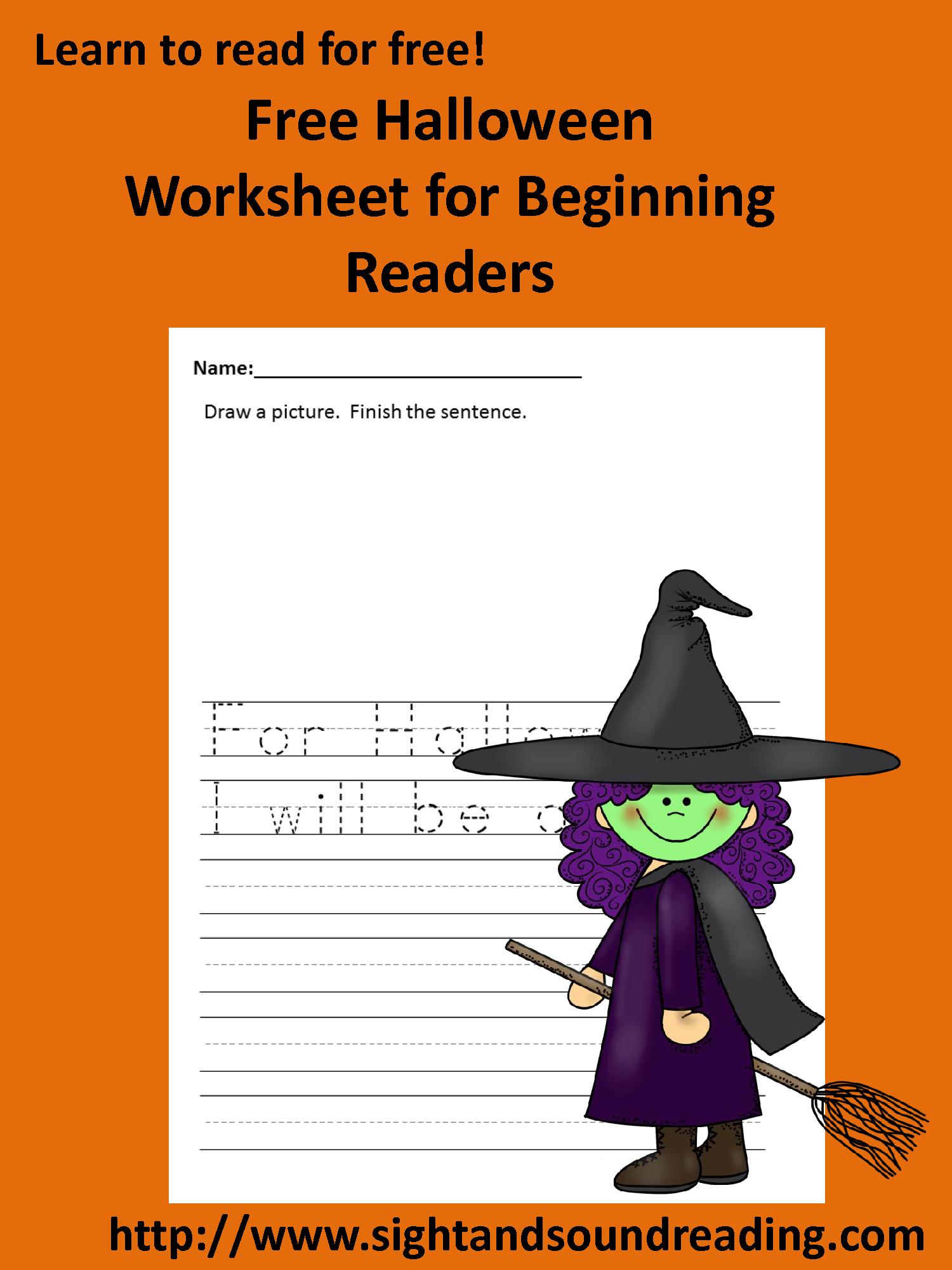 Halloween Writing Prompt For Kindergarten Or First Grade