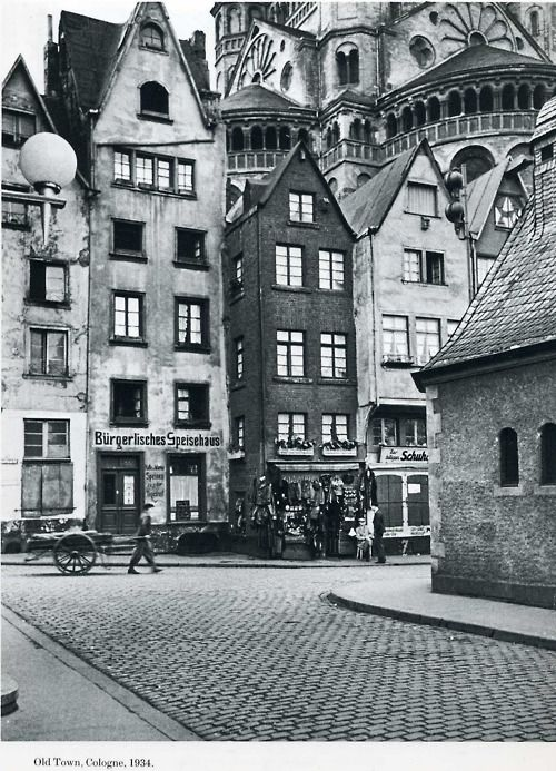 cologne germany 1934 old cologne in 2019 deutschland k ln und stadt. Black Bedroom Furniture Sets. Home Design Ideas