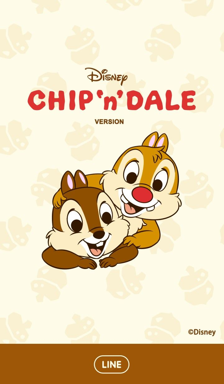 Chip Et Dale Line Wallpaper Walt Disney Characters Chip And