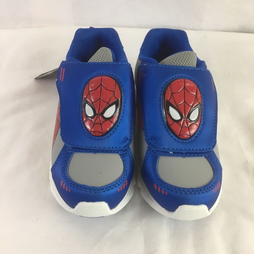 NIB Marvel Size 11 Toddler Boys' Spider-Man Blue Light-Up Athletic Shoe #Spiderman #Athletic