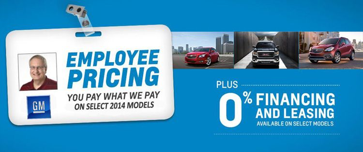 Final Day Of Gm Employee Pricing At West Park Motors You Pay What