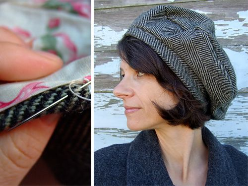 How to make a lined garbo hat