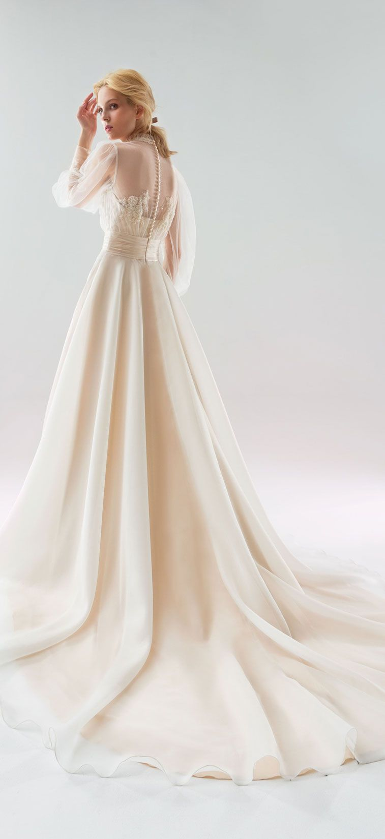 Long sleeves a line wedding dress, Papilio Wedding Dresses - White Wind Bridal Collection #weddingdress #weddinggown ,wedding gown ,wedding dress