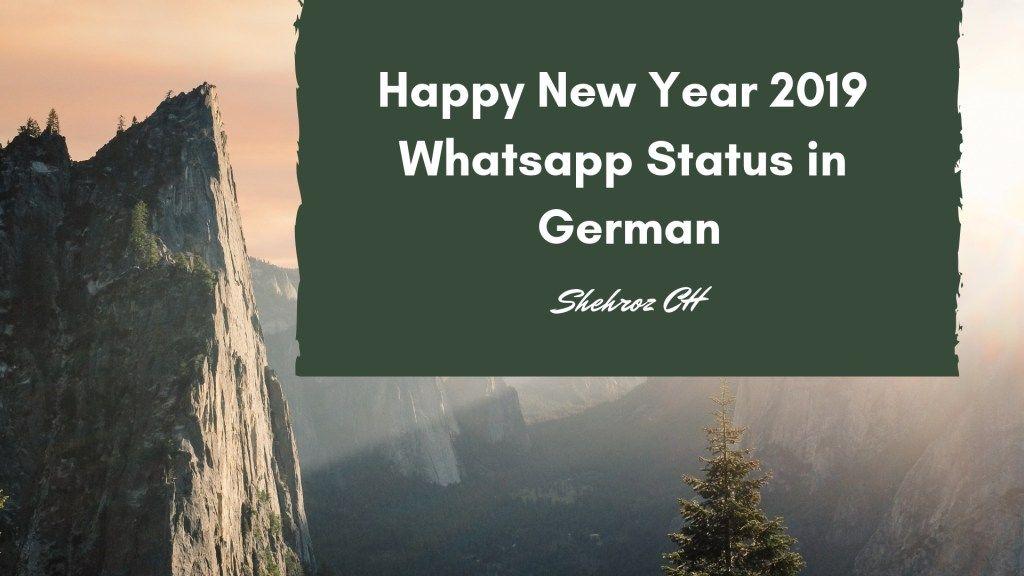 Happy New Year 2019 Whatsapp Status In German Latest