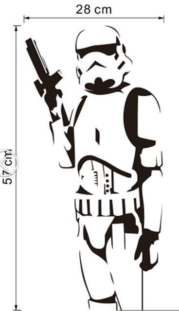 Storm Trooper Vinyl Wall Art Decal Star Wars Decal Star Wars Stencil Stormtrooper Wall Art