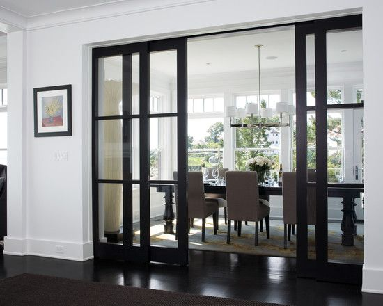 GLASS SHOJI SLIDING DOORS See My New Home Design Checklist At Contemporary Dining RoomsTransitional