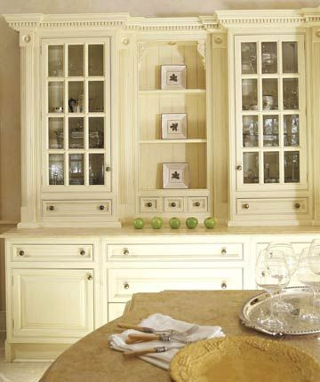 Kitchen Hutch Ideas | Open shelving, White hutch and Hidden storage