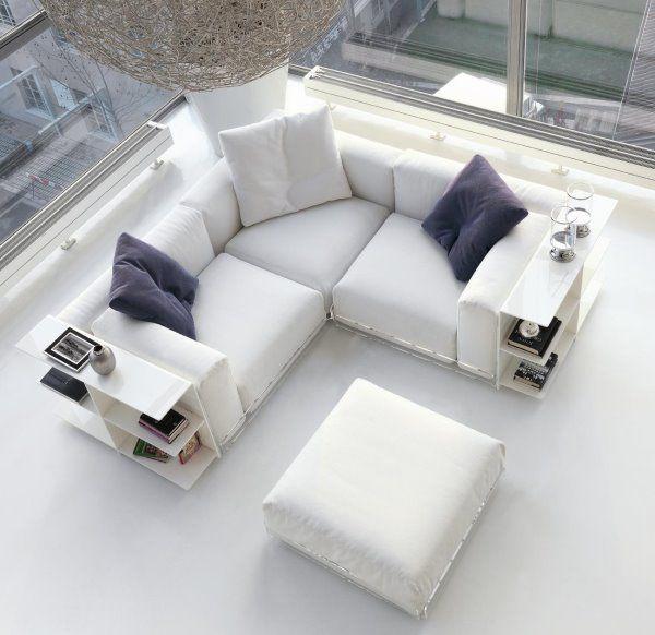 Salotto Bianco In Pelle.Divano Design Divano Angolare Divani Comodi E Arredamento