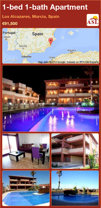1-bed 1-bath Apartment in Los Alcazares, Murcia, Spain ...