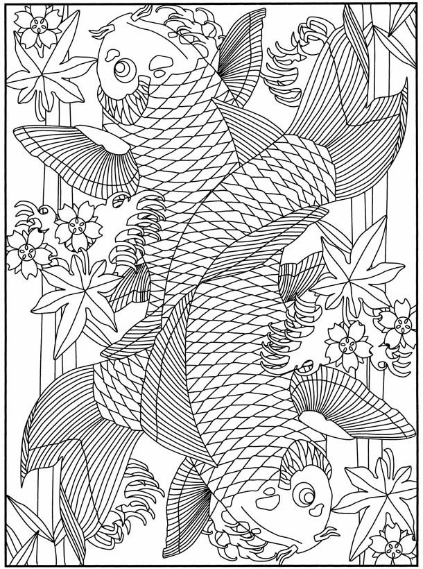 koi fish coloring pages Pesquisa Google Coloring for