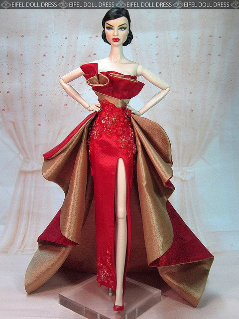 Evening Dress for sell EFDD | Dolls, Barbie doll and Barbie gowns