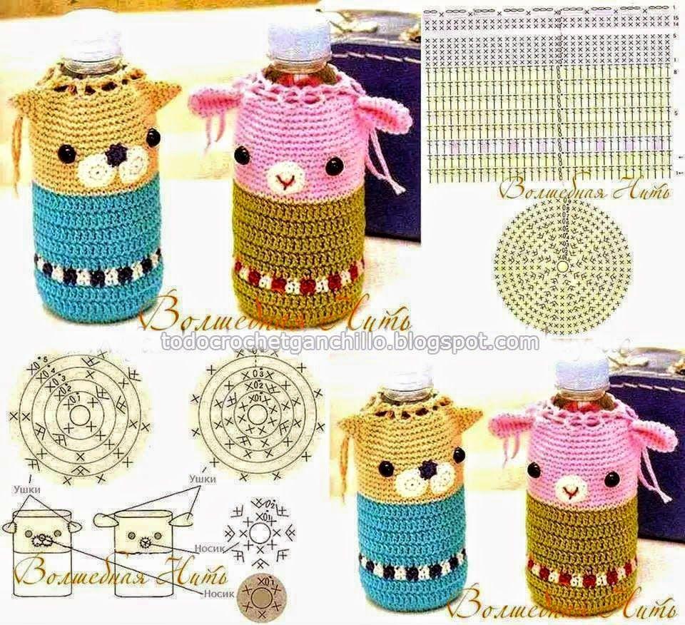 Patrones de Porta Botella para niños - Crochet | Todo crochet ...
