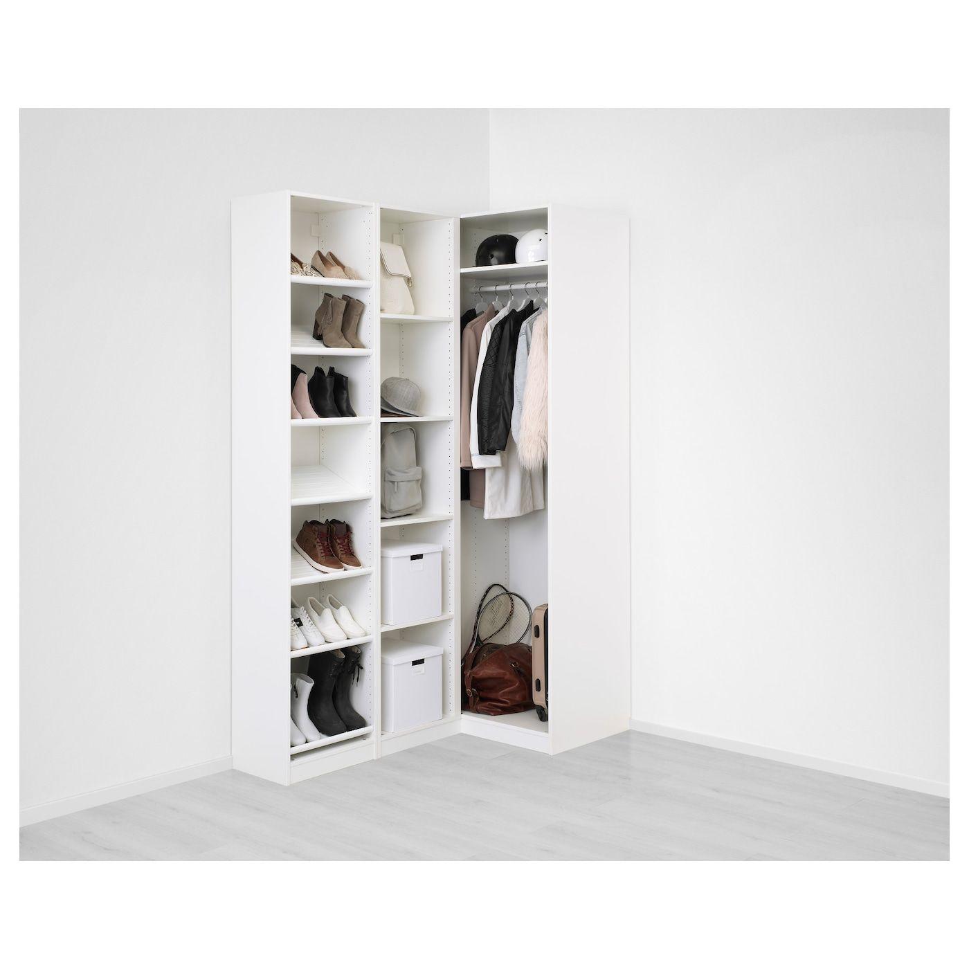 Pax Corner Wardrobe White Flisberget Light Beige 63 1 8 34 5 8x93 1 8 En 2020 Penderie D Angle Amenagement Penderie Penderie
