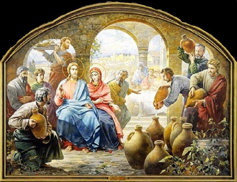 Under Her Starry Mantle Rosary Reflection The Wedding Feast In Cana Christian Art Art Painting
