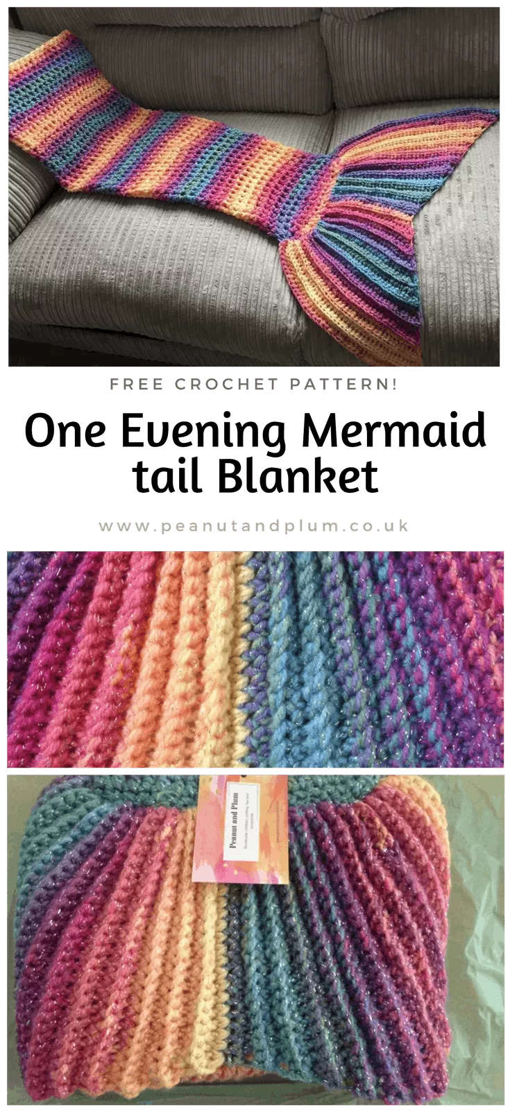 one evening crochet mermaid tail blanket pattern