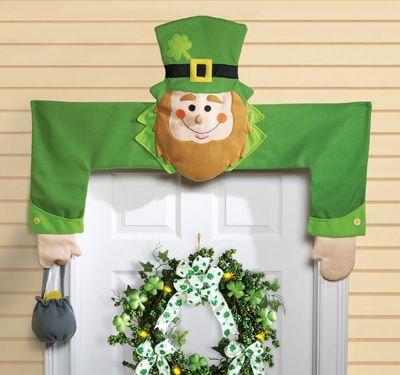 leprechaun door hugger st patrick 39 s day decoration st patricks day st patrick 39 s day. Black Bedroom Furniture Sets. Home Design Ideas