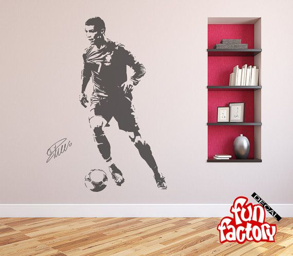 Cristiano ronaldo wall decal sticker real by fundecalfactory wall cristiano ronaldo wall decal sticker real by fundecalfactory voltagebd Choice Image