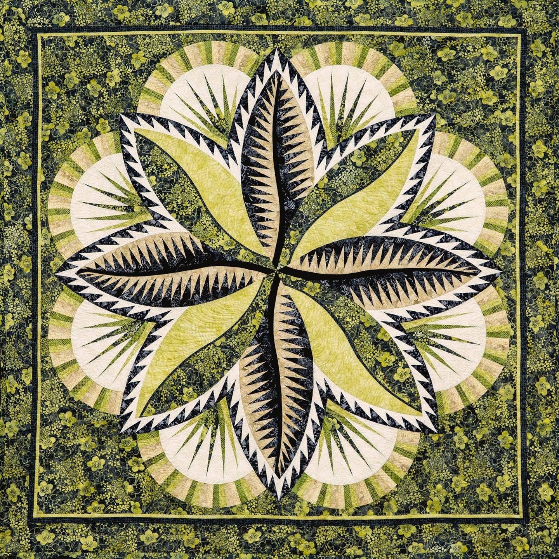 Judy Niemeyer FIRE ISLAND HOSTA Foundation Paper Pieced Quilt Pattern