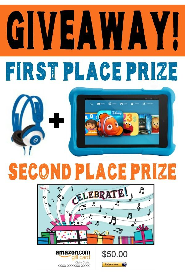 Homeschool Giveaway: Kid's Kindle Fire, Volume Limiting Headphones, and Second Place prize; $50 Amazon Gift Card.