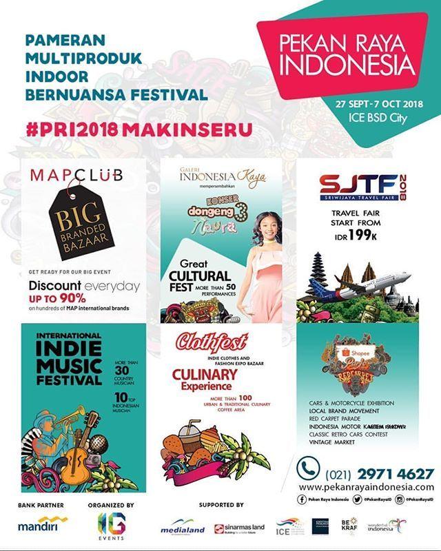 Pekan Raya Indonesia merupakan pameran multiproduk indoor