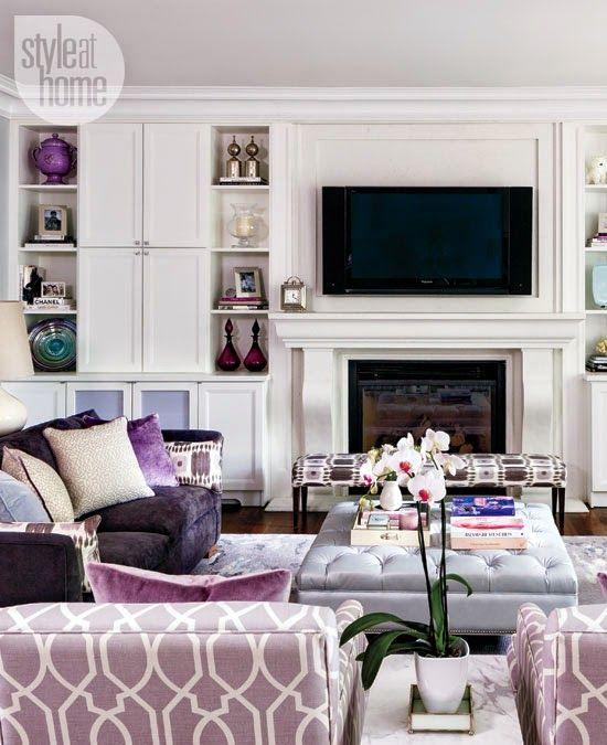 Refind Elegance Mauve Living Room Living Room Inspiration
