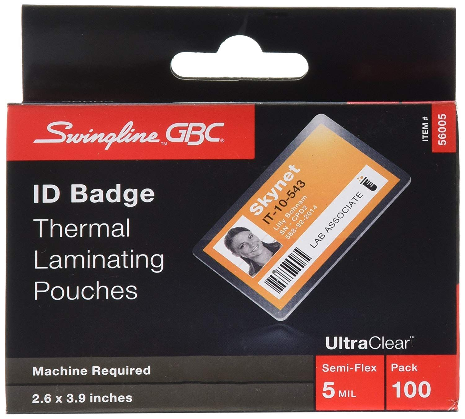 Swingline Gbc Laminating Sheets Thermal Laminating Pouches Id Card Size 5 Mil Heatseal Ultraclear Card Sizes Storing Craft Supplies Craft Supplies Online